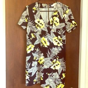 Beautiful floral navy blue dress
